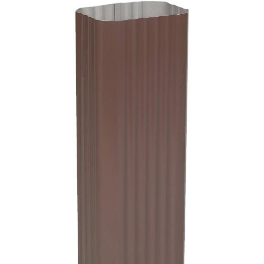 Amerimax 2 In. x 3 In. Brown Aluminum Downspout