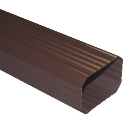 Repla K 2 In. x 3 In. Brown Vinyl Downspout
