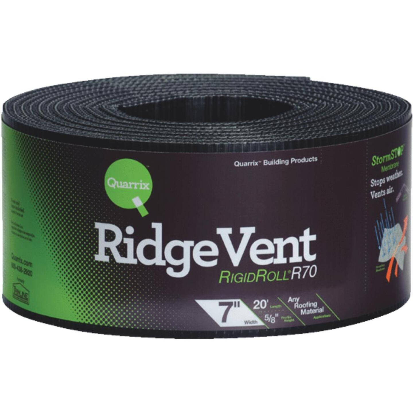 Quarrix 7 In. x 20 Ft. Shingle-Over Rolled Ridge Vent Image 1