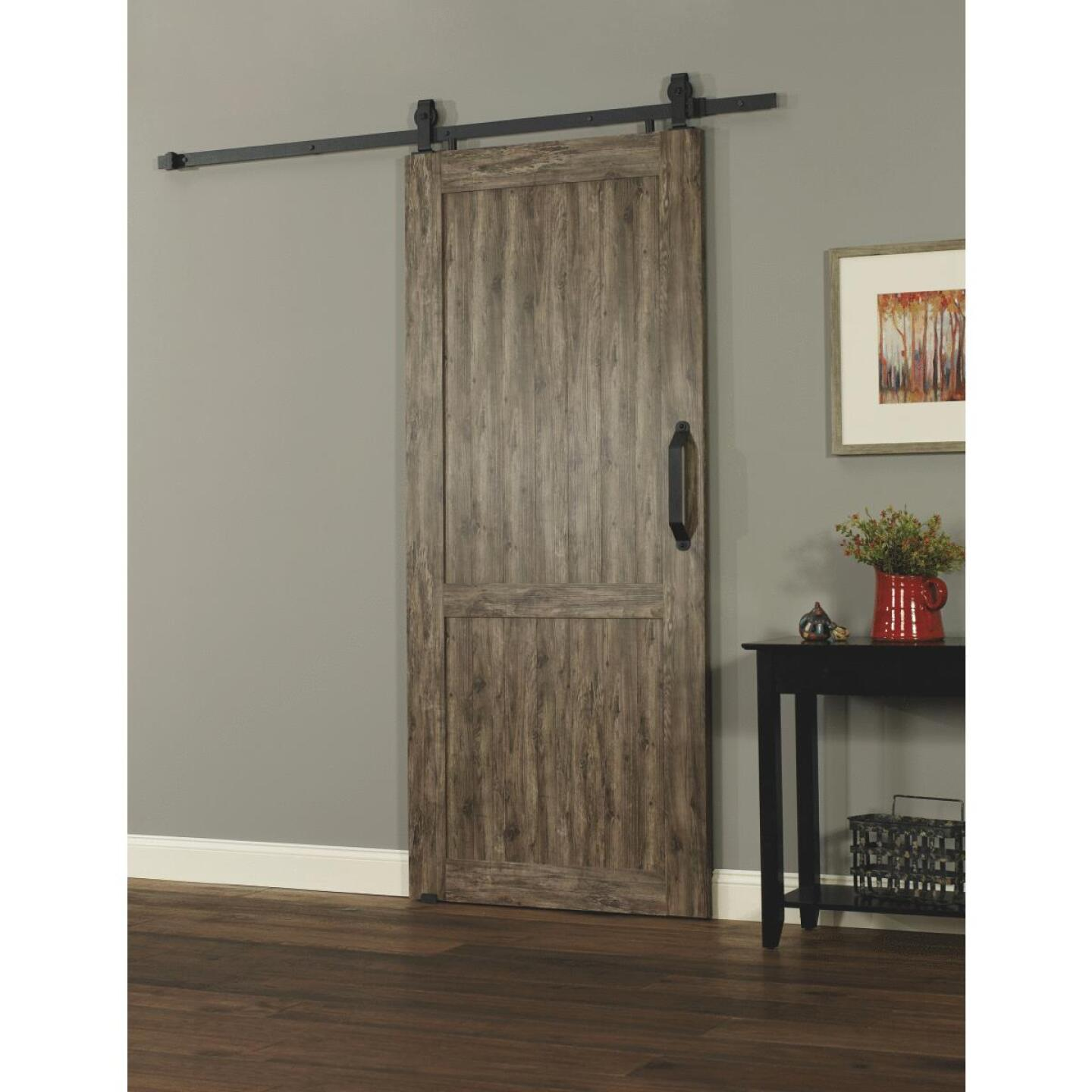 Millbrooke 42 In. x 84 In. x 1.3 In. H-Style Weathered Gray PVC Barn Door Kit Image 2