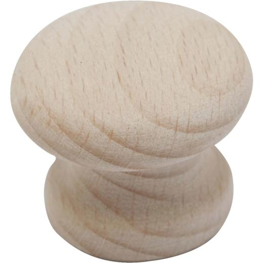 Do it Wood Hardwood Round 1-1/2 In. Cabinet Knob, 2-Pack