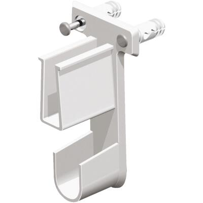 ClosetMaid SuperSlide White Resin Wire Shelf End Bracket
