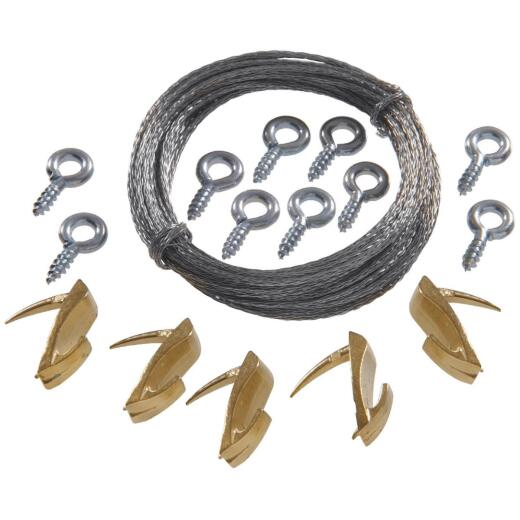 Hillman Anchor Wire 20 Lb. Capacity Wallbiter Picture Hanging Kit