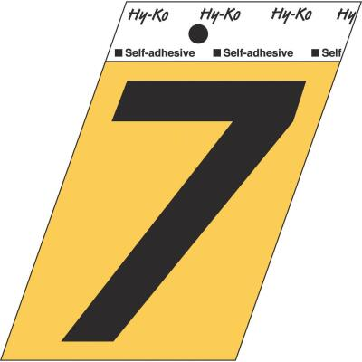 Hy-Ko Aluminum 3-1/2 In. Non-Reflective Adhesive Number Seven