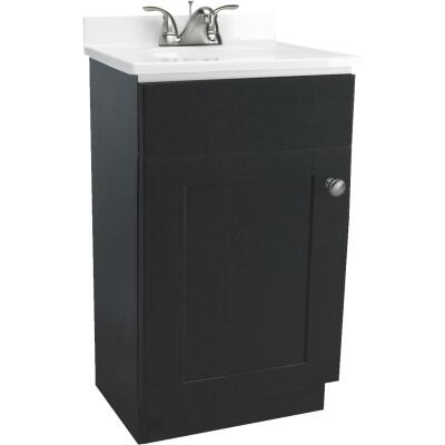 Design House Shorewood Espresso Combo 18 In. W x 31-1/2 In. H x 16 In. D Vanity with Cultured Marble Top