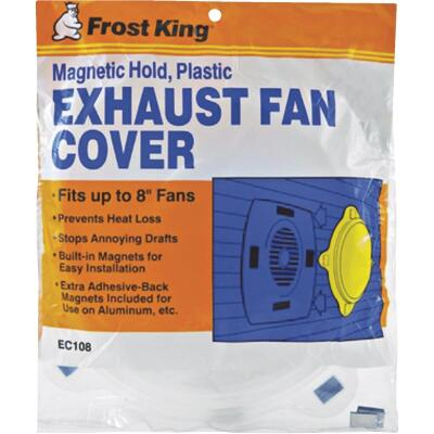 Frost King 10-1/4 In. Dia. White Plastic Exhaust Fan Cover