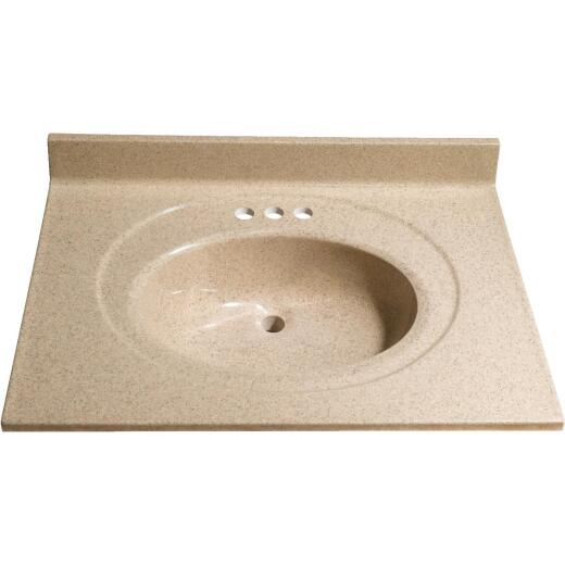 Bertch 31 In. W x 22 In. D Sand Faux Granite Vanity Top with Oval Bowl