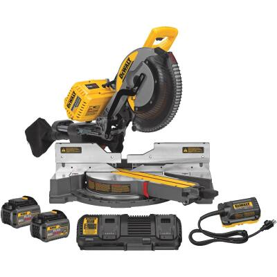 DeWalt Flexvolt 120-Volt MAX Lithium-Ion Brushless 12 In. Dual-Bevel Sliding Compound Cordless Miter Saw Kit