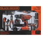 Black & Decker 20 Volt MAX Lithium-Ion 3/8 In. Cordless Drill Project Kit (68-Piece) Image 2