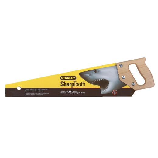 Stanley 20 In. L. Blade 9 PPI Hardwood Handle Hand Saw