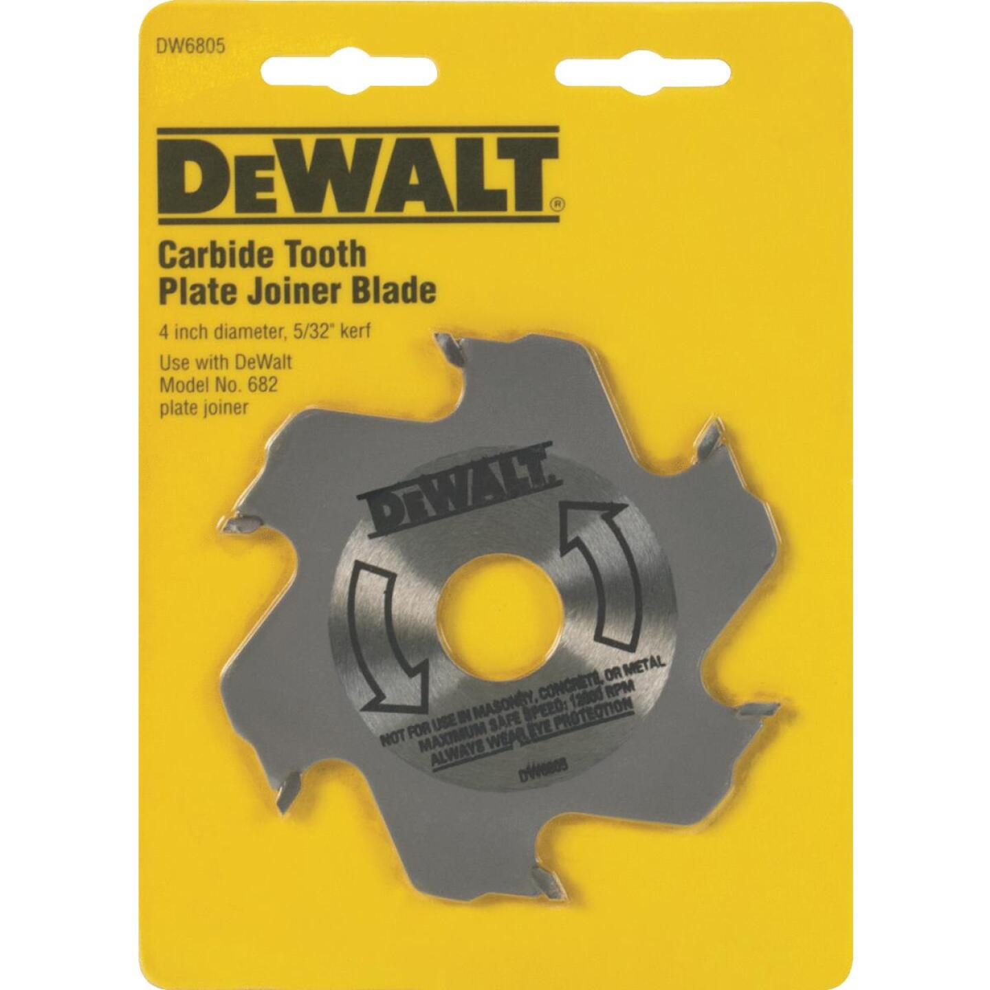 DeWalt 4 In. 6-Tooth Carbide Plate Joiner Blade Image 2