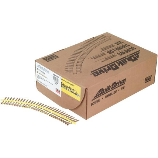 Quick Drive Strong-Drive #9 x 2-1/2 In. T-25 WSV Subfloor Collated Wood Screw, Yellow Zinc Finish (1500-Ct.)