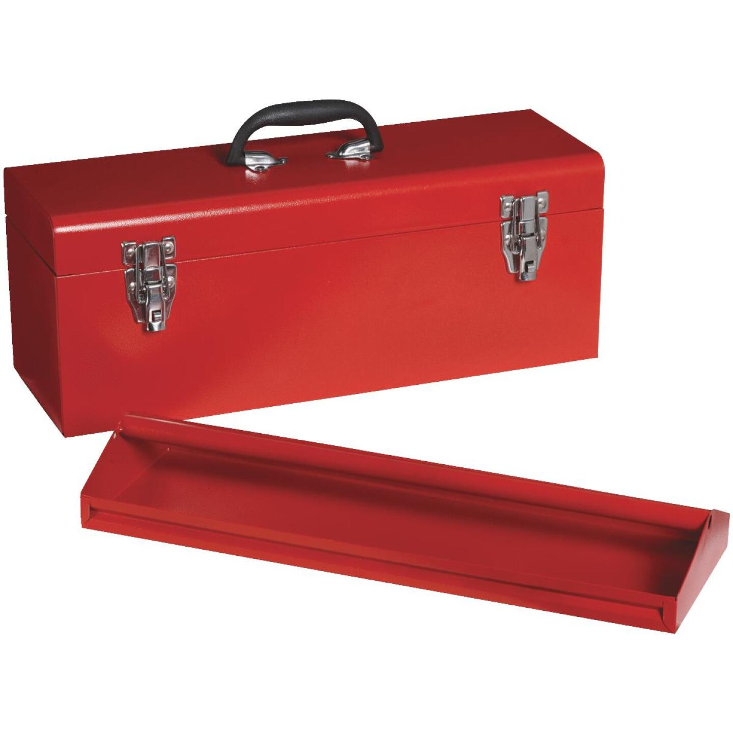 20 In. Red Steel Toolbox Image 1