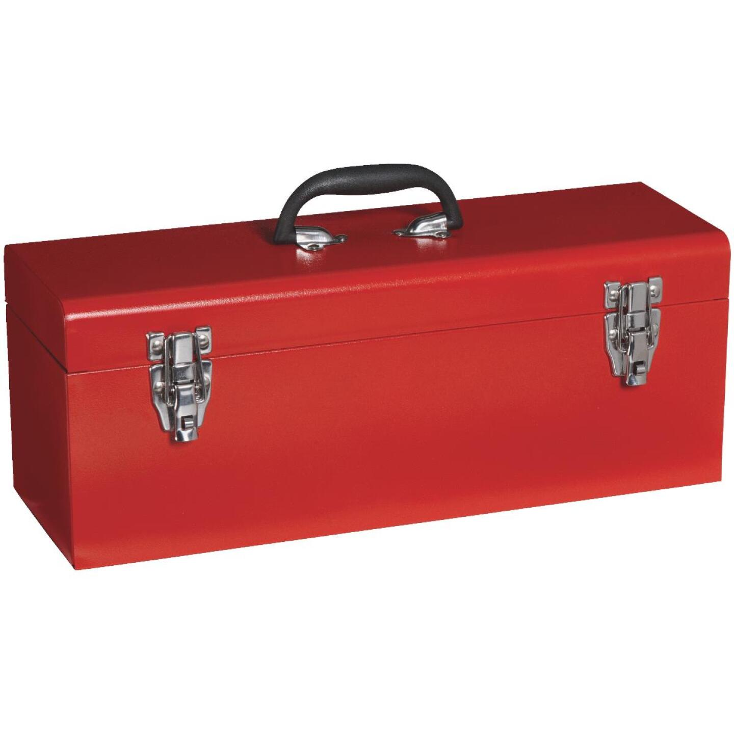 20 In. Red Steel Toolbox Image 2