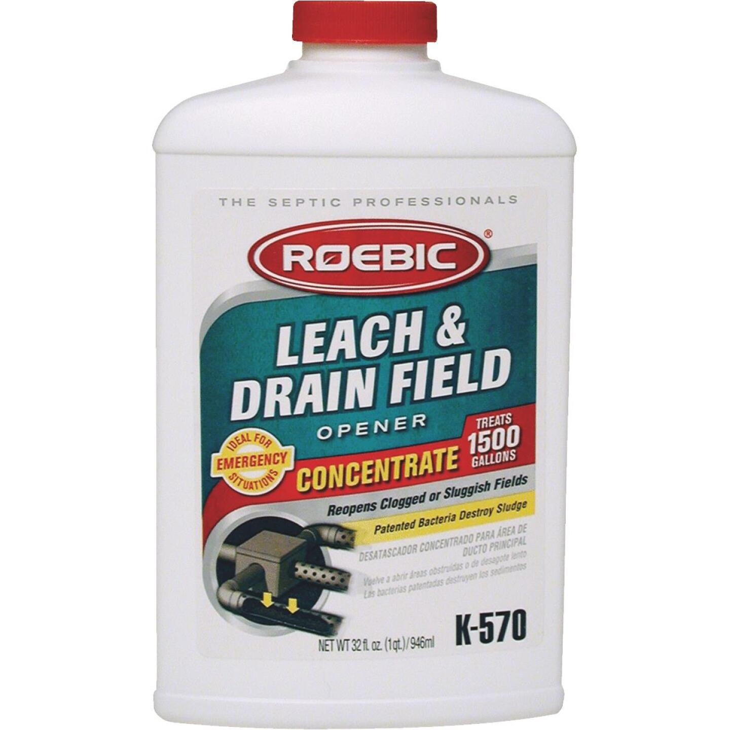 Roebic K-570 1 Qt. Concentrate Septic Tank Treatment Leach and Drainfield Cleaner Image 1