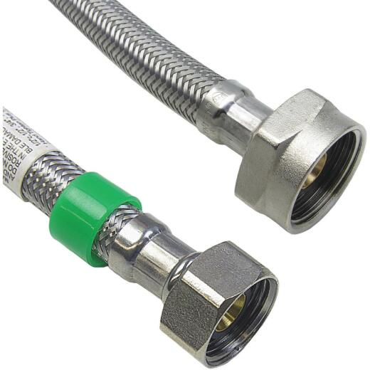 Lasco 1/2 FIP x 7/8 BC x 12 Braided Stainless Steel Flex Line Toilet Connector