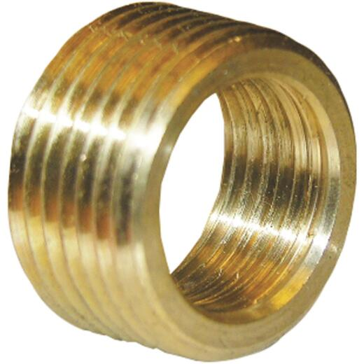 Lasco 3/4 In. MPT x 1/2 In. FPT Brass Face Bushing