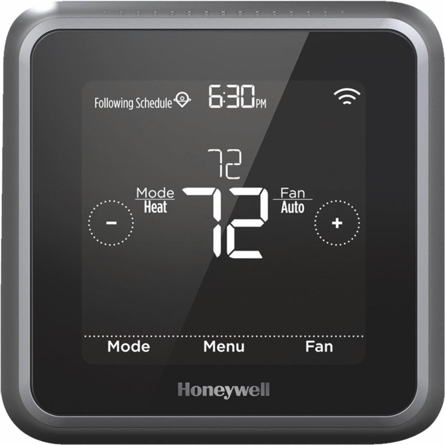 Honeywell Lyric T5 W-Fi 7-Day Programmable Black Digital Thermostat Image 1