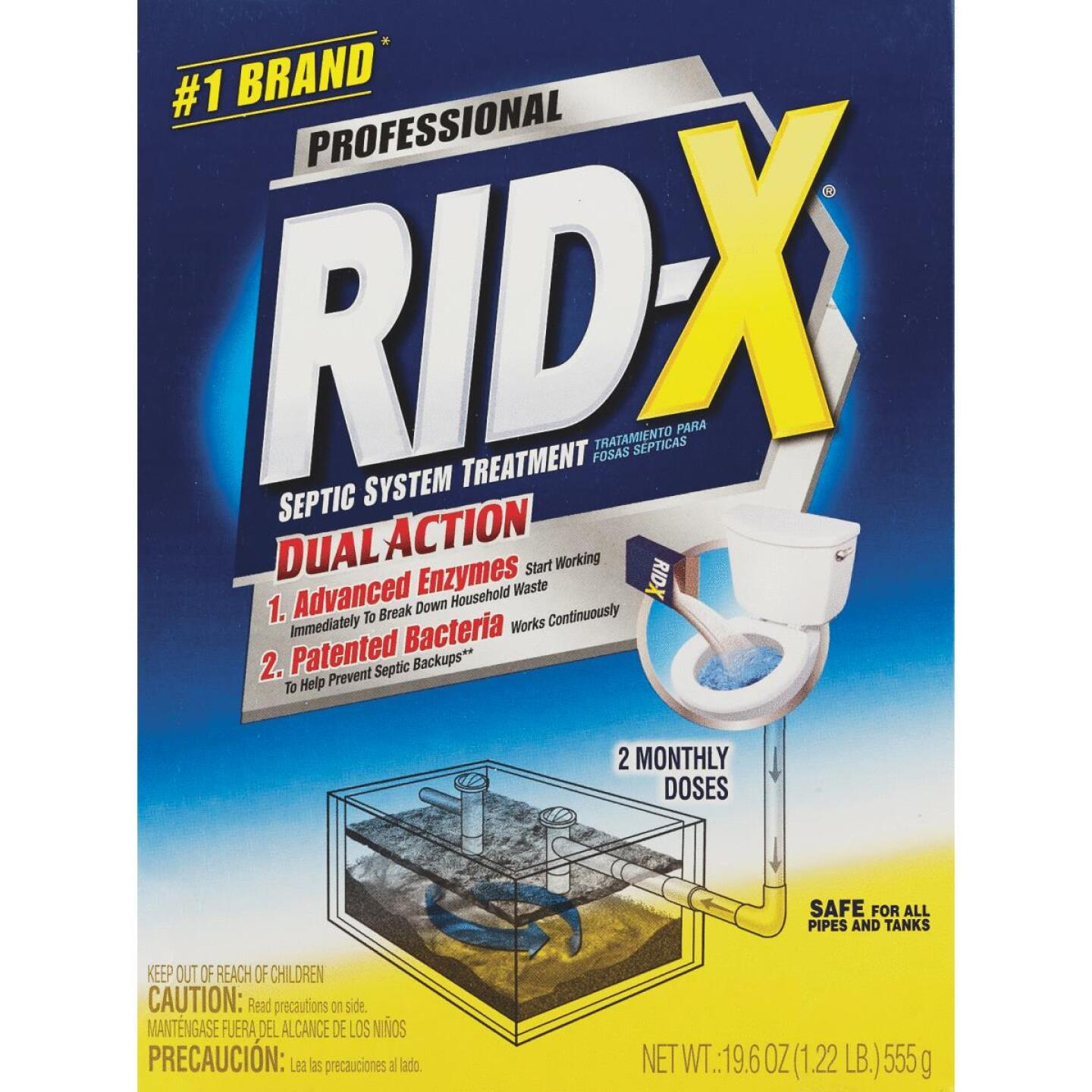 Rid-X Professional 19.6 Oz. Septic Tank Treatment (2-Pack) Image 1