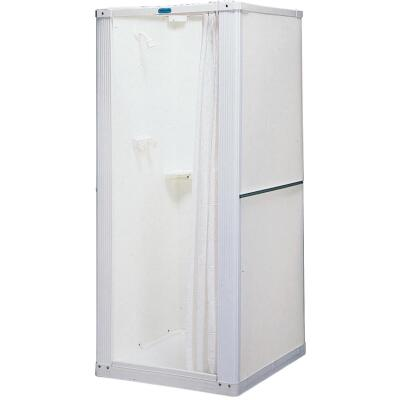 Mustee Durastall 32-5/8 In W x 74-3/4 In H x 32-5/8 In D White Thermoplastic Shower Stall
