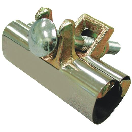 Jones Stephens 1/2 In. x 6 In. Stainless Steel Repair Clamp 2 Bolt Installation