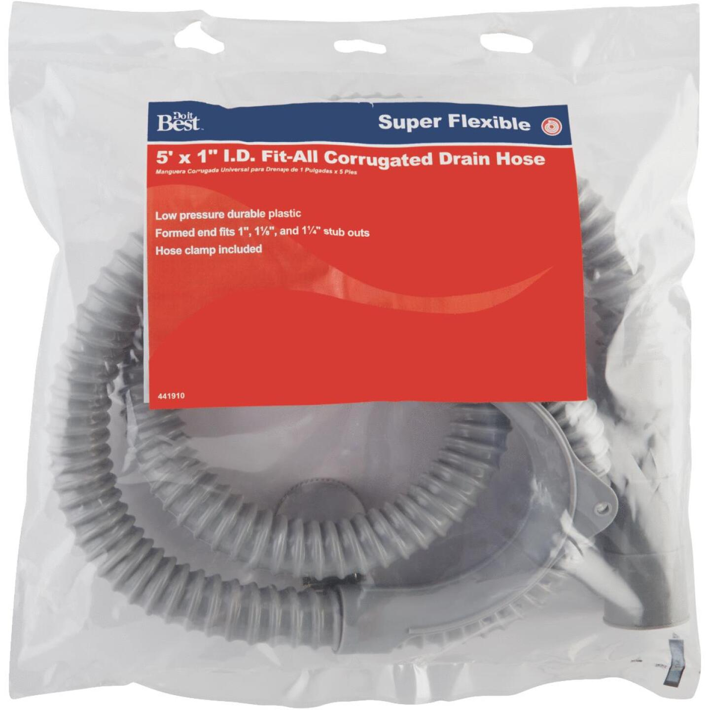 Do it 1 In. ID X 5 Ft. Corrugated Plastic Washing Machine Drain Hose Image 2