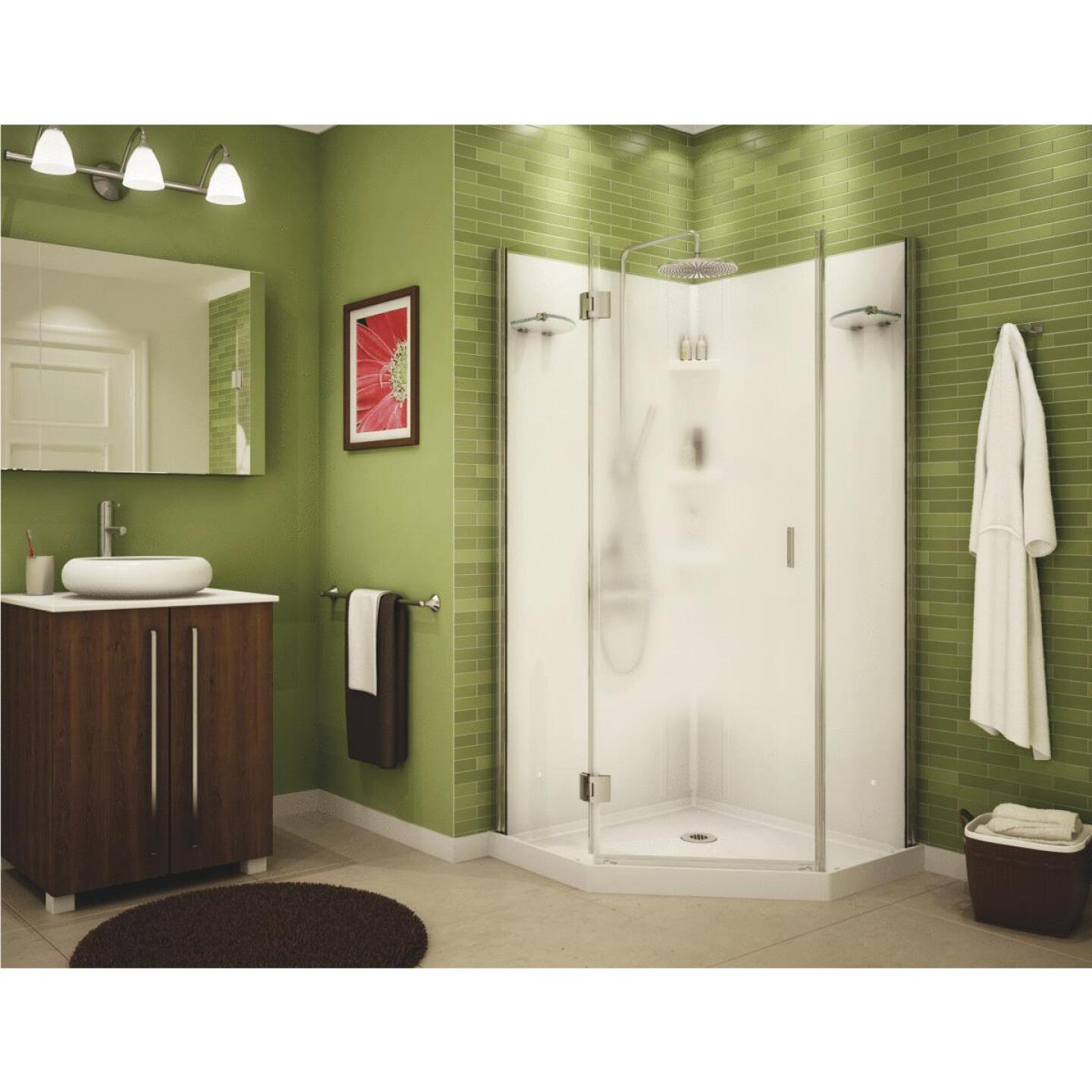 Maax 36 In. W. x 72 In. H. x 36 In. D. White Polystyrene Shower Stall Image 2