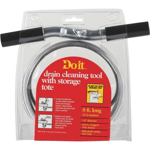 Do it 1/4 In. x 8 Ft. Galvanized Steel Wire Cleanout Drain Auger