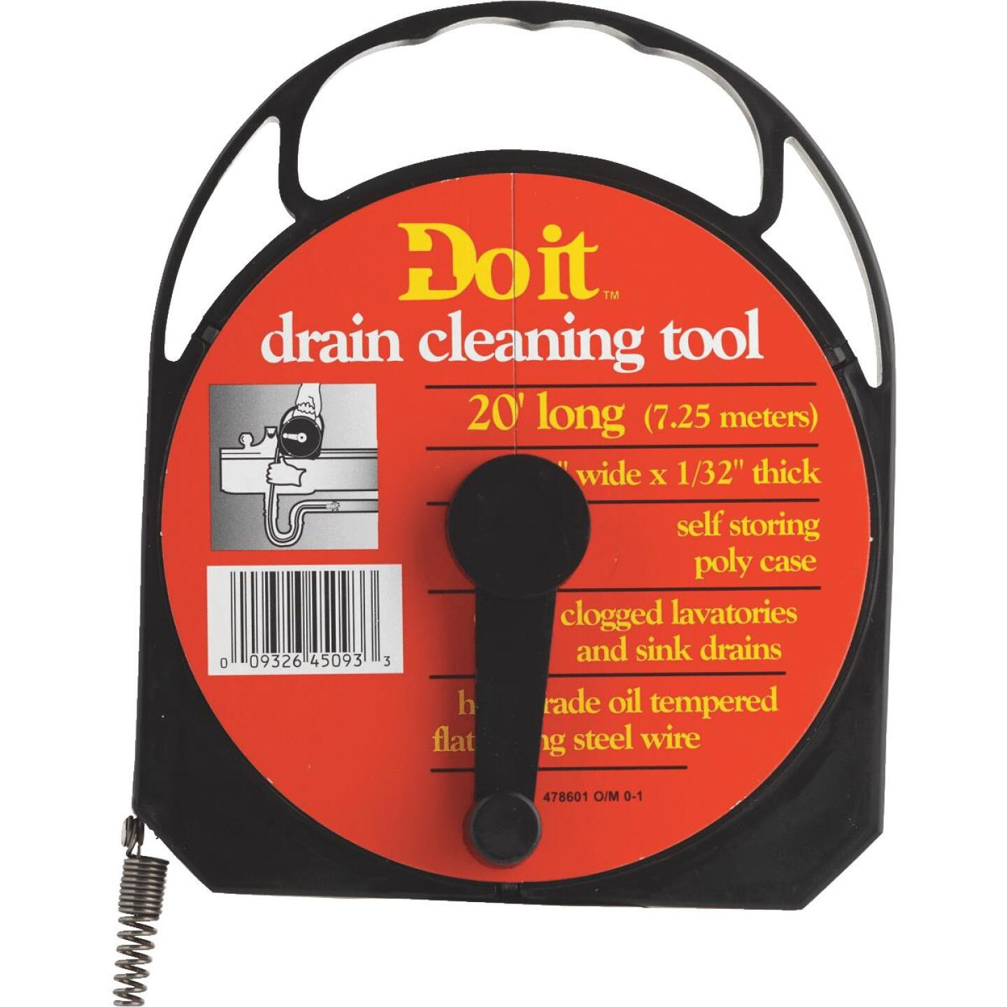 Do it 1/4 In. x 20 Ft. Poly Case Wire Cleanout Drain Auger Image 1