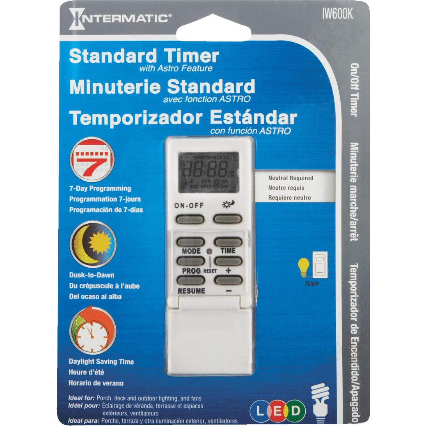 Intermatic 120V 15A 500W Electronic Timer Image 2