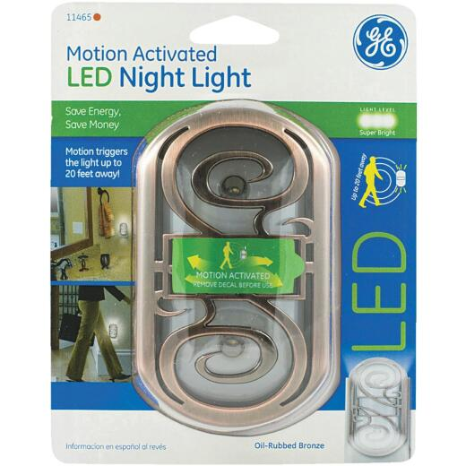 GE Oil-Rubbed Bronze Motion Activated LED Night Light