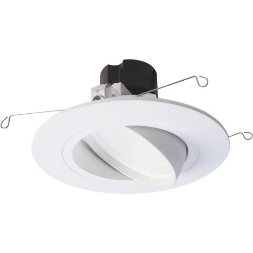Halo 4 In. Retrofit IC/Non-IC Rated White LED Adjustable Gimbal Recessed Light Kit