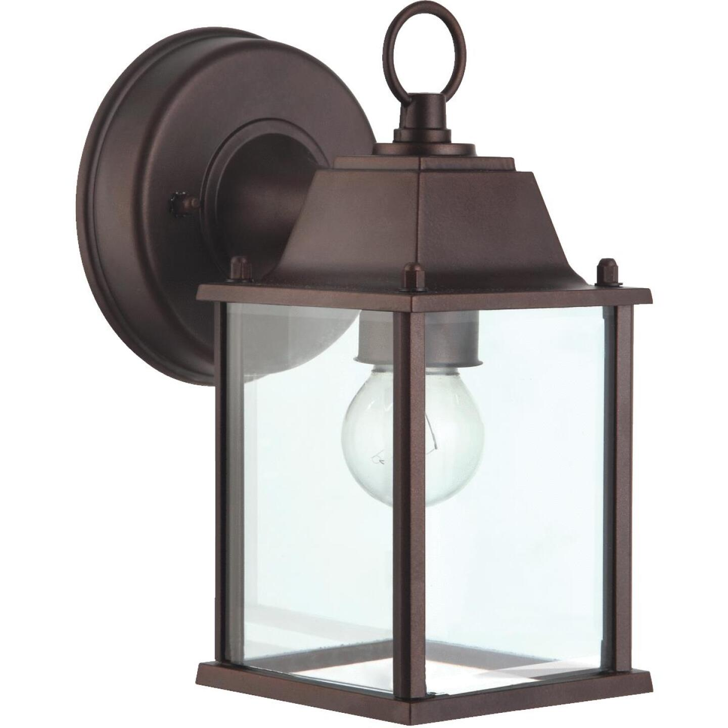 Home Impressions 100W Oil-Rubbed Bronze Incandescent Lantern Outdoor Wall Light Fixture Image 1