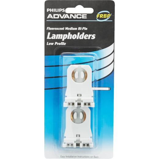 Philips Low Profile Tombstone Medium Bi-Pin T8/T12 Fluorescent Lampholder (2-Pack)
