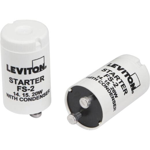 Leviton 14W/15W/20W 2-Pin T8 Fluorescent Starter (2-Pack)