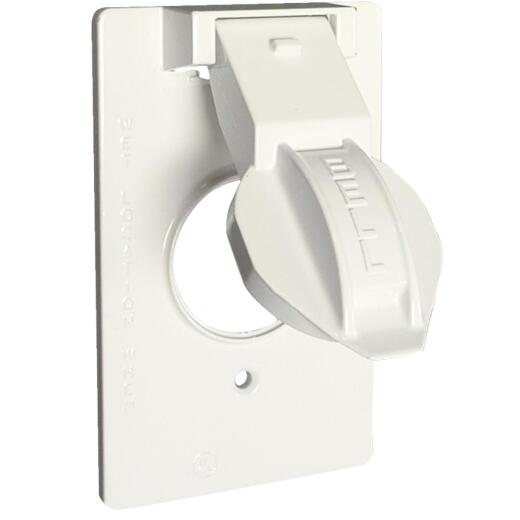 Hubbell Single Gang Vertical Corrosion Resistant Aluminum Weatherproof Electrical Cover