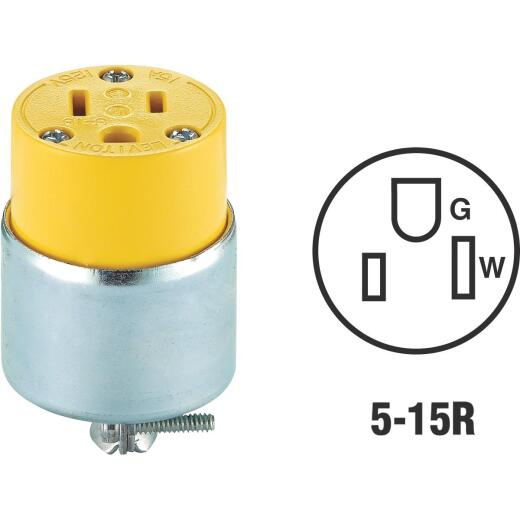 Do it 15A 125V 3-Wire 2-Pole Armored Cord Connector