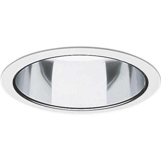 Thomas 6 In. White Trim w/Clear Reflector Recessed Fixture Trim