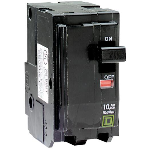 Square D QO 40A Double-Pole Standard Trip Circuit Breaker