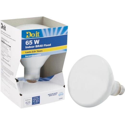 Do it 65W Frosted BR40 Reflector Incandescent Floodlight Light Bulb