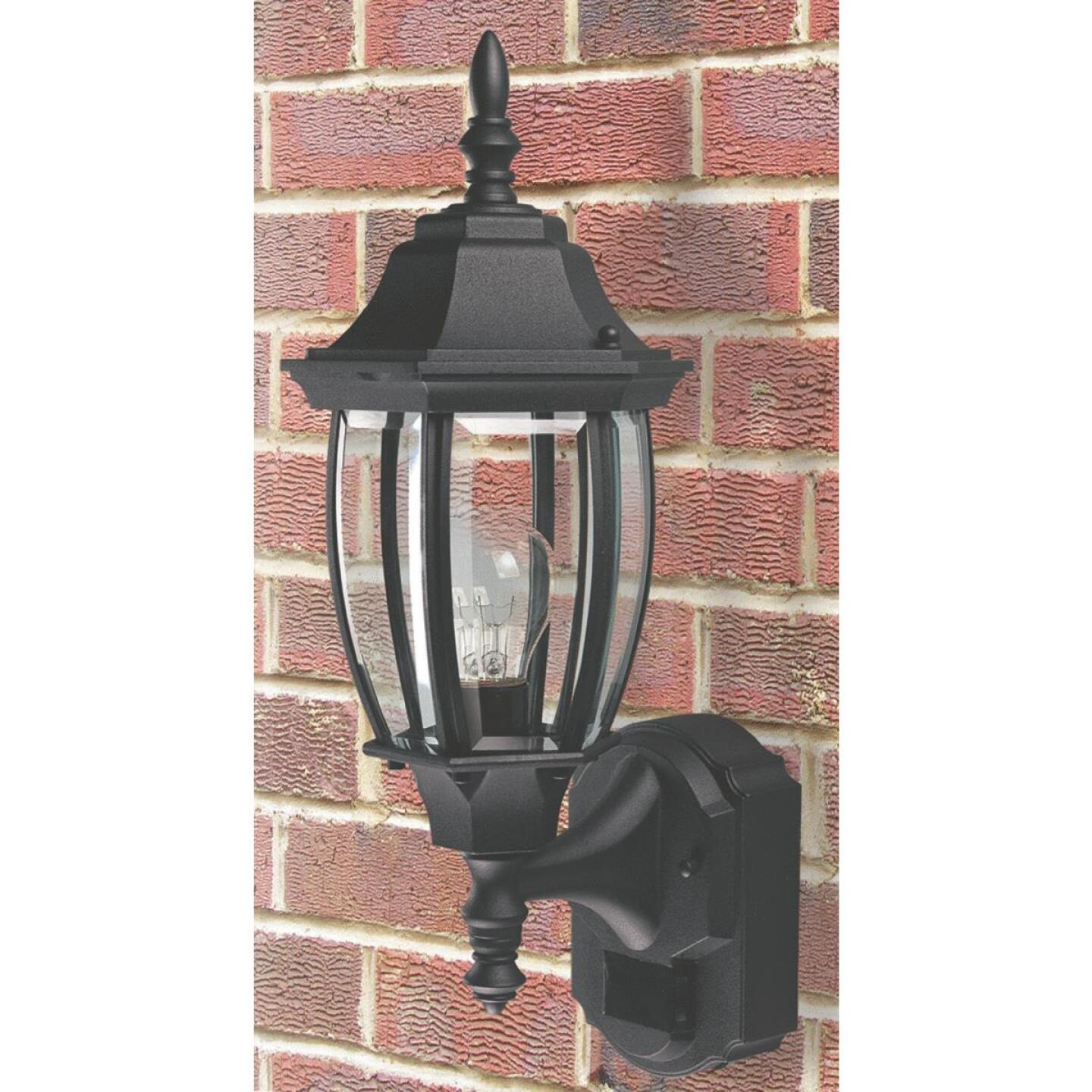 Heath Zenith Black Incandescent Dusk-To-Dawn/Motion Activated Outdoor Wall Light Fixture Image 2