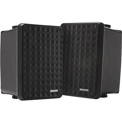 Kicker KB6000 2-Way Black Weatherproof Outdoor Full Range Speaker (2-Pack)