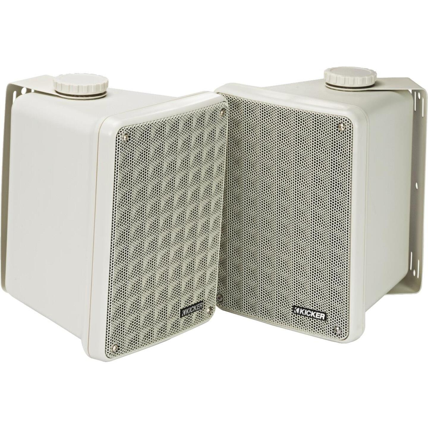 Kicker KB6000 2-Way White Weatherproof Outdoor Full Range Speaker (2-Pack) Image 1