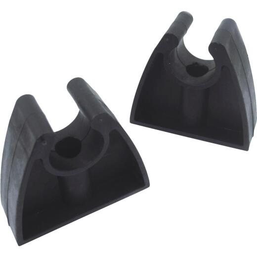 Seachoice Molded Rubber Black Storage Clips (2-Pack)
