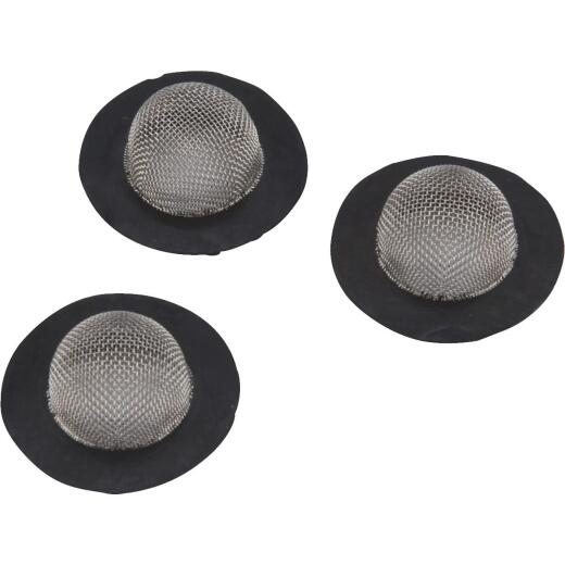 Camco Stainless Steel Mesh 1 In. RV Washer with Filter, 3-Pack