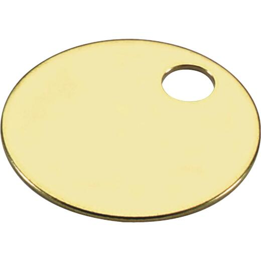 Lucky Line Engravable Tag 1-1/4 In. Brass Key Tag, (100-Pack)