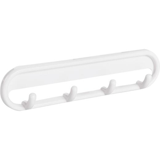 InterDesign White Multipurpose Hook Rail