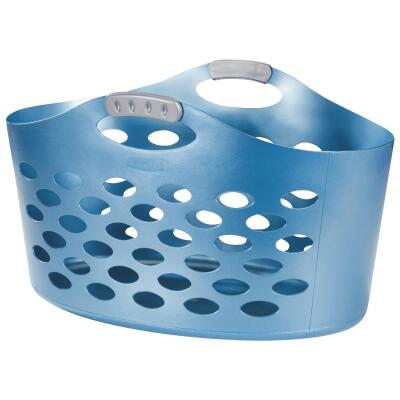 Rubbermaid Flex 'N Carry Blue Laundry Basket