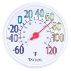"""Taylor 13-1/2"""" Farenheit And Celsius -60 To 120 F, -50 To 50 C Outdoor Wall Thermometer Image 1"""