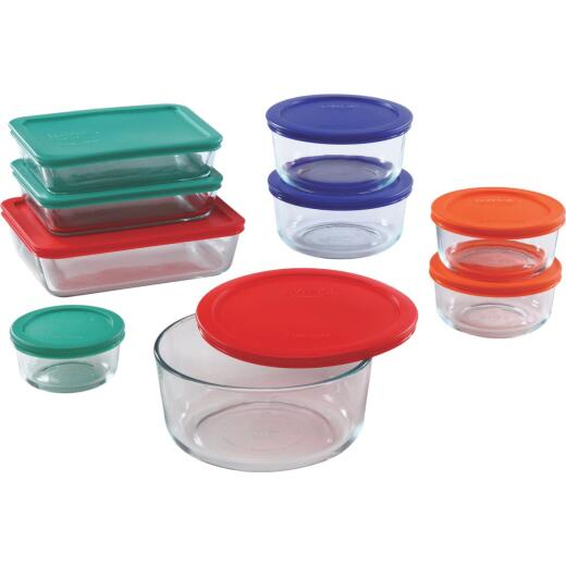 Pyrex Simply Store Glass Storage Container Set with Lids (18-Piece)